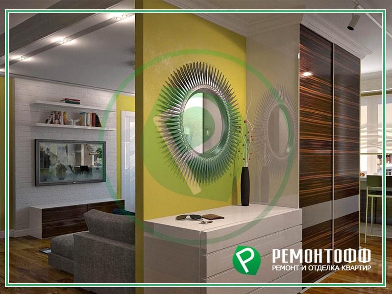 Эко дизайн квартиры под ключ. Профессиональная разработка дизайна с 3D визуализацией. Современный дизайн интерьера квартиры недорого.