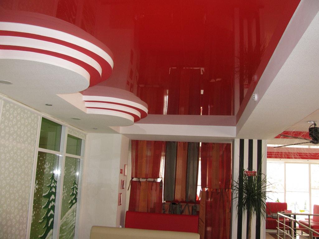 Двухуровневые натяжные потолки от производителя Ремонтофф. Ремонт и отделка квартир под ключ.