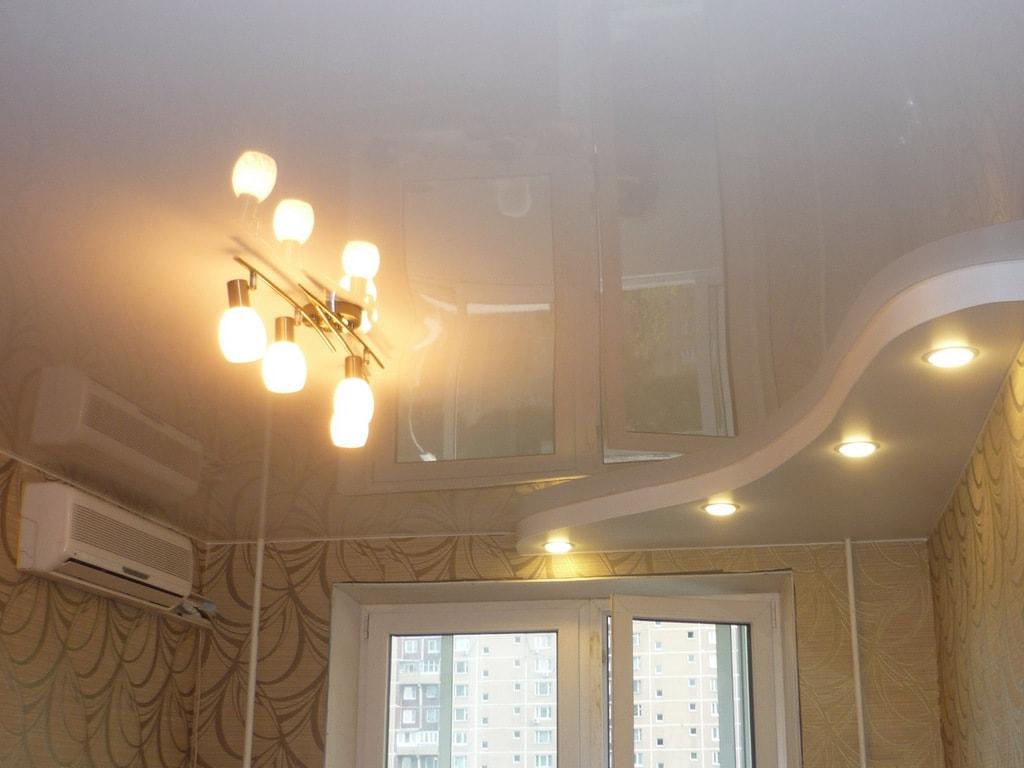 Глянцевые натяжные потолки от производителя Ремонтофф. Ремонт и отделка квартир под ключ.