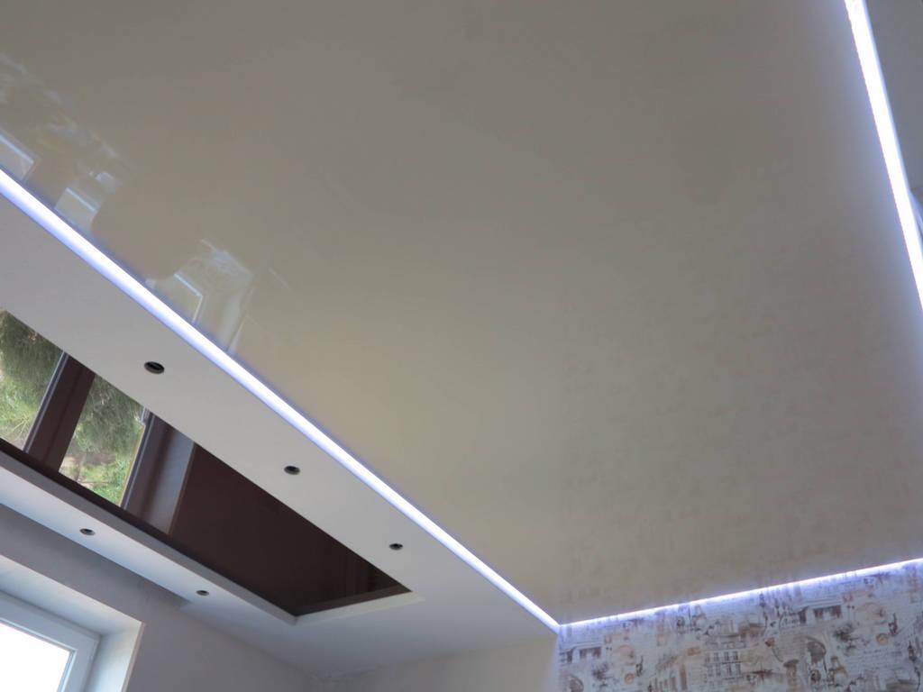Парящий натяжной потолок фото Ремонтофф. Ремонт и отделка квартир под ключ.