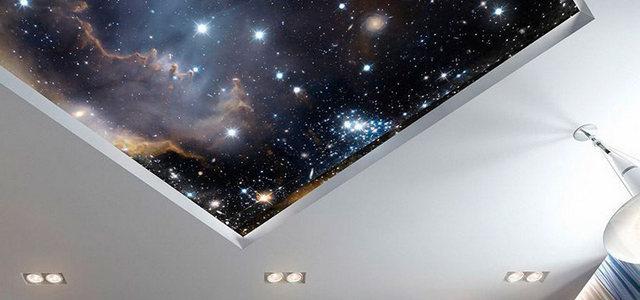 Натяжные потолки звездное небо от производителя Ремонтофф. Ремонт и отделка квартир под ключ.